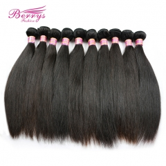 Factory Price Peruvian Straight Virgin Human Hair 10pcs/lot& 10-30inch Natural Color Unprocessed High Quality Hair Extension