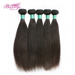 5 Bundles Brazilian Virgin Hair Straight Natural Color 100% Unprocessed Straight Virgin Hair 8-30inch