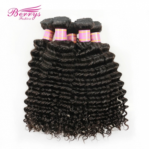 10-28inch Wholesale 5pcs/lot Peruvian Deep Wave/Curly Virgin Hair Good Quality Unprocessed Human Hair