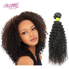 1pc Kinky Curly Unprocessed Virgin Malaysian Hair 10-28inch Natural Color Human Hair Extension