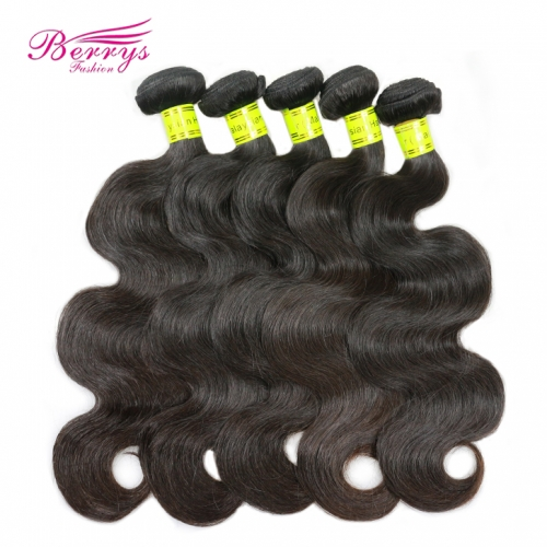 5pcs/lot Malaysian Body Wave Human Hair Weave 100% Virgin Unprocessed Human Hair Extension