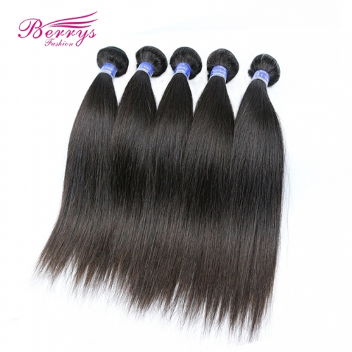 5 Bundles Indian Virgin Hair Straight Natural Color 100% Unprocessed Straight Virgin Hair 8-30inch