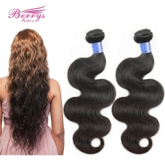 Berrys Fashion Hair  2pcs/lot Indian Body Wave Virgin Human Hair Extension Unprocessed Natural Great Hair