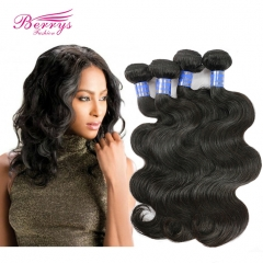 4 Bundles Body Wave Indian Hair 100% Unprocessed Virgin Hair Natural Color Wet and Wavy Human Hair