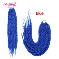 New Arrival Foreign African Dirty Braids 100g/Bundle 24inch Blue/Dark Brown/Light Brown/Purple Hair Free Shipping