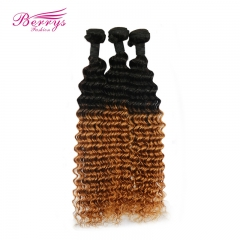 New Arrival 100% Virgin Human Hair 1B/27# Ombre 3pcs/lot Deep Wave Dyed from 100% Virgin Human Hair Extension