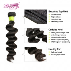 "Malaysian virgin hair Loose Weave human hair Machine double weft 1pcs/lot 10""-26"" unprocessed hair"
