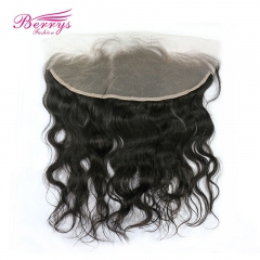 Transparent Lace Frontal 13*4 Peruvian 100% Virgin Hair Body WaveTop Lace Frontal Berrys Fashion Hair