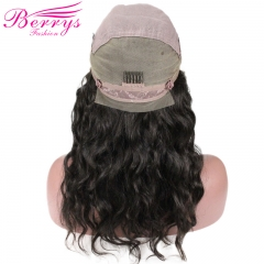 Berrys Fashion Natural Wave Full Lace Wig 130% Density, 100% Virgin Human Hair, with Pre-plucked Knots
