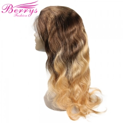 New Arrival Body Wave 4#/27 Full Lace Wig 130% Density with Bleached Knots