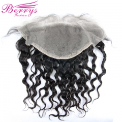 Berrys Fashion Transparent Loose Wave 13*6 Lace Frontal 100% Virgin Human Hair with Bleached Knots and Natural Hairline