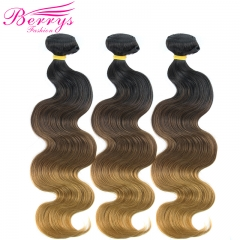 New Arrival 1b#4#27 Body Wave 3pcs/lot Bleached from 100% Virgin Human Hair with Good Quality Ombre Hair