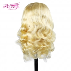 Body Wave Blonde 4x4 Lace Closure Human Hair Wigs For Women Pre Plucked Brazilian Virgin Hair Wigs Bleached Knots Baby Hair Piano#613